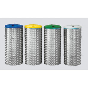Kompakt-Abfall Sammelgerät 120 l mit Edelstahl und ALU-Duett-Blechen