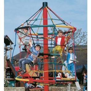Kletternetz-Turm drehbar mit gepulvertem Mast