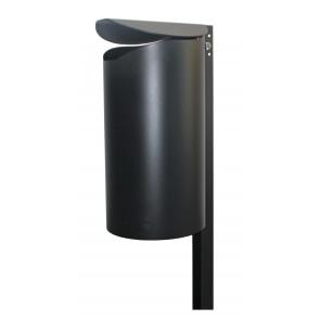 Abfallbehälter mit Pfosten Modell GLACE RE O