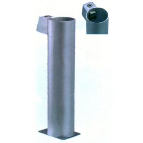 Bodenhülse aus feuerverzinktem Stahlblech 90 mm
