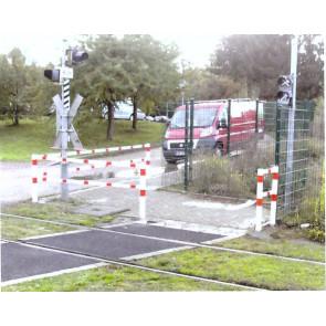 Wegesperren 70 x 70 mm mit Knieholm feststehend