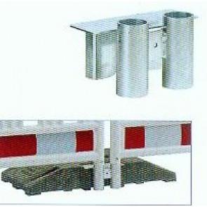 Fußplatteneinsatz für Absturzsicherung