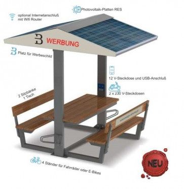 Solar Fahrrad Ladestation TECTUM