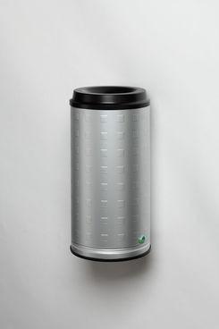 Papierkorb Stand- oder Wandgerät aus Aluminium, eloxiert