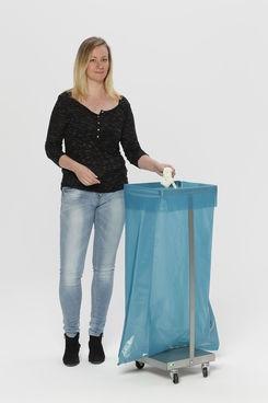 Abfallsammler ohne Deckel aus Edelstahl