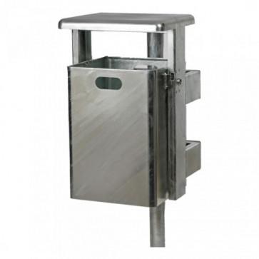 Abfallbehälter Rechteck mit abgerundeten Ecken 40 Liter RE