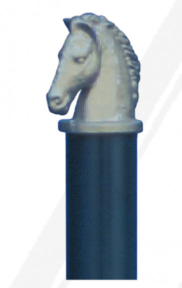 Stilpoller Rundrohr mit Pferdekopf