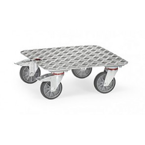 Kistenroller mit Aluminium Quintettblech Plattform