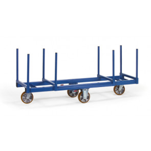 Langmaterialwagen 1500 kg mit Rungen 500 mm lang