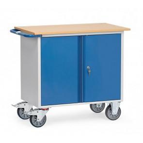 Stahlblech-Werkstattwagen - 400 kg mit 1 zweitürigem Schrank