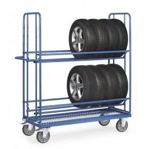Reifenwagen 400 kg mit 2 Ladeflächen - Boden mit eingeschweißtem Drahtgitter