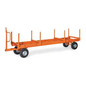 Langmaterial-Anhänger - 2t 2-Achs-Drehschemel-Lenkung 700 mm Ladehöhe