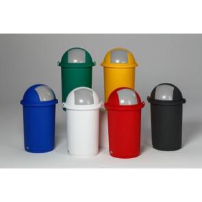 Kunststoff- Abfallbehälter mit Einwurfklappe