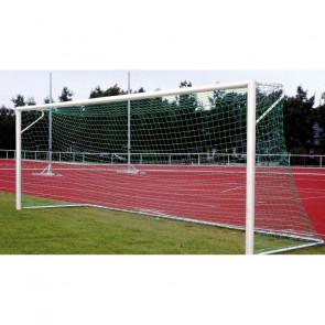 Stadion Fußballtor 7,32 m x 2,44 m in Bodenhülsen mit Netzbügelkonstruktion