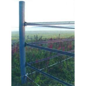Weidepfosten Rundpfosten mit Spitze Durchmesser 70 mm aus recyceltem Kunststoff grau