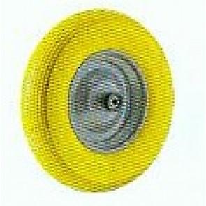 Schubkarrenrad gelb luftlos mit Aufnahme Durchmesser 13,5 mm
