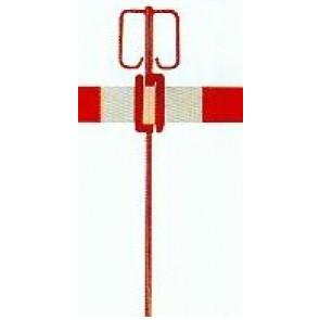Absperrhalter mit Warnbandspange aus Stahl