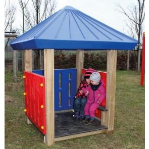 Spielhaus Holz / Polyethylen