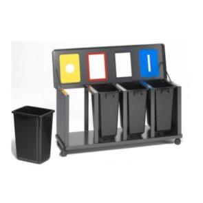 "Wertstoff-Sammelstationen ""Tetris"" als 3er oder 4er, stationär oder fahrbar"