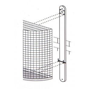 Befestigungsschiene mit Schloss zur Wand- oder Holzmontage für Drahtabfallkorb M1 und M2